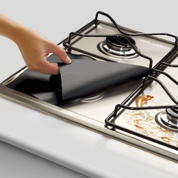 YTE 4 sztuk folia ochronna na kuchenkę gazową wielokrotnego użytku kuchenka gazowa palnik pokrywa Liner Mat ochrona przed urazam