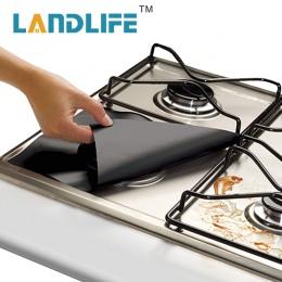 4 sztuk zestaw kuchenka gazowa kuchenka ochraniacze pokrywa/Liner Clean Mat Pad palnik gazowy pokrywy Protector akcesoria kuchen