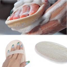 Nowy naturalne Loofah wanna prysznic gąbka rękawica peelingująca Exfoliator Pad do mycia akcesoria łazienkowe 15x10 cm lekkie, t
