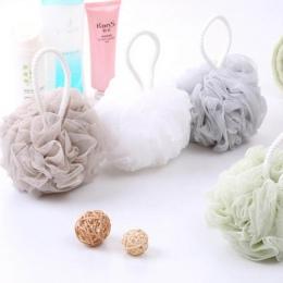 Loofah piłka do kąpieli myjka 1 PC mleko akcesoria prysznicowe akcesoria łazienkowe PE do kąpieli kwiat Super miękkie