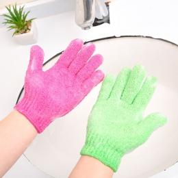1 sztuk kąpiel dla Peeling złuszczający Peeling Mitt rękawice do prysznic Peeling masaż ciała gąbka do mycia skóry nawilżający g