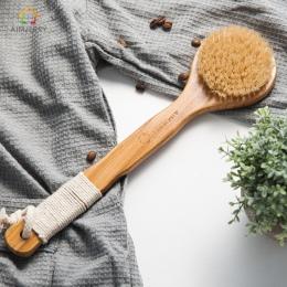 Aimjerry Naturalnego Włosia Długo antypoślizgowy Uchwyt Drewniany Maasage Ciała Opieki zdrowotnej Szczotka Do Kąpieli do kąpieli