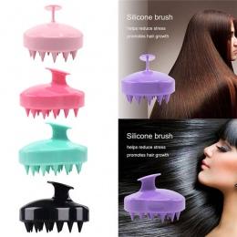 SILISCRUB-nowy silikonowy szampon głowy szczotka ciało prysznic mycia włosów masaż masażysta szczotka grzebień
