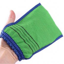 1 PC losowy kolor prysznic Spa Exfoliator dwustronne rękawica kąpielowa do czyszczenia ciała peeling Mitt pocierać usuwanie mart
