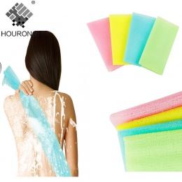 1 PC siatka nylonowa do kąpieli prysznic do mycia ciała złuszczający Puff szorowania ręcznik tkaniny Scrubber bańka mydlana do k