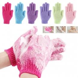 Prysznic rękawice kąpielowe losowy kolor złuszczający peeling mycia skóry Spa masażu peeling rękawica peelingująca rękawice bard