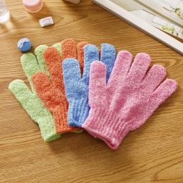 4 sztuk rękawice prysznicowe złuszczający peeling mycia skóry Spa rękawice kąpielowe pianka do kąpieli odporność na poślizg masa