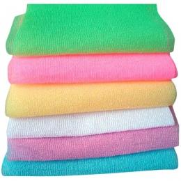 3 sztuk nylonowa siatka wanna prysznic mycie ciała do czyszczenia złuszczający Puff szorowania ręcznik losowy kolor MYDING
