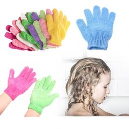 Do kąpieli dla Peeling złuszczający Peeling Mitt rękawice do prysznic Peeling odporność na masaż ciała gąbka do mycia skóry nawi