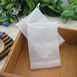 10 sztuk/partia mydło worek pianki siatki Soaped rękawiczki do spieniania do czyszczenia mydło do kąpieli netto łazienka rękawic