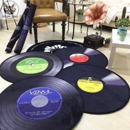 CD dywan mata poduszki antyczne Sofa poduszka na krzesło korzystając z łączy z boku dywan kot płyta winylowa okrągły kilka Study