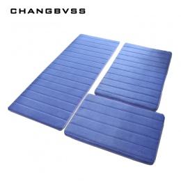 3 sztuk/zestaw pamięci piankowa mata do kąpieli dywan, nowoczesne podłogi antypoślizgowe dywany łazienkowe dywan mata, dywan łaz