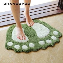 Odcisk stopy maty do kąpieli, antypoślizgowe dywan łazienkowy, mata wc Tapete Para Banheiro, łazienka dywan mata do kąpieli dywa