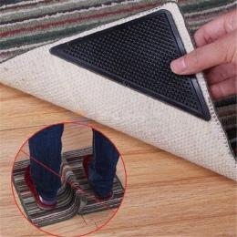 4 sztuk/zestaw antypoślizgowe dywan dywan Mat chwytaki antypoślizgowe wielokrotnego użytku, z możliwością prania, gumowe narożni