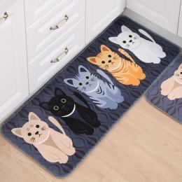Śliczne mata podłogowa z kotem w wielu kolorach i rozmiar mata kuchnia łazienka drzwi ssania wykładzina wodoodporna antypoślizgo