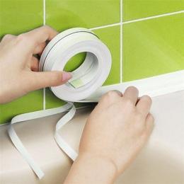 Biały maty do kąpieli taśma uszczelniająca wodoodporna taśma samoprzylepna odporna na pleśń kuchnia łazienka 3.2 m x 3.8 cm