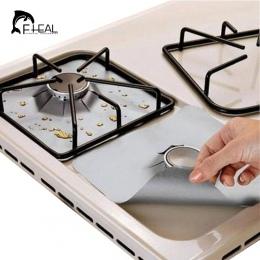 FHEAL 4 sztuk/zestaw wielokrotnego użytku non-stick folia kuchenka gazowa palnik kuchenka Protector pokrywa Liner do narzędzia d