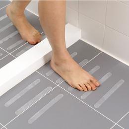12 sztuk antypoślizgowe maty do kąpieli 20x2 cm Grip naklejki antypoślizgowe prysznic prysznic listwy bezpieczeństwa taśma mata