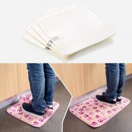 4 sztuk klej Anti-slip Non tkany dywan mata taśma klejąca naklejka chwytak piętro wklej akcesoria do domu dla toaleta wc podłogi