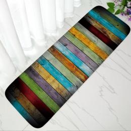 Antypoślizgowe dywan łazienkowy miękkie flanelowe drzwi mata kolorowe paski mata do kąpieli wc kuchenne maty podłogowe absorpcja