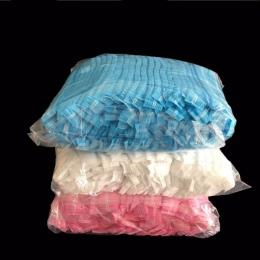 100 sztuk włókniny jednorazowe czepki kąpielowe plisowana Anti Dust Hat kobiety mężczyźni czapki do Spa Salon fryzjerski uroda a