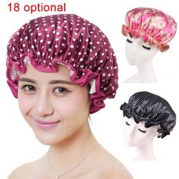 Piękne grube kobiety czepki kąpielowe kolorowe podwójna warstwa wanna prysznic do włosów dla dorosłych wodoodporne WXV sprzedaż