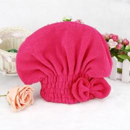 1 PC z mikrofibry prysznic czepek kąpielowy ręcznik turbanowy elastyczna opaska czepek kąpielowy Spa kapelusz słodkie włosy ochr