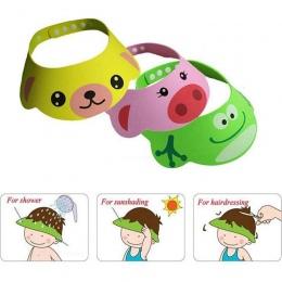 Nowy przybył zagęścić Cartoon EVA miękkie do kąpieli dla dzieci czepki kąpielowe dziecięce mycie głowy cięcia włosów tarcza czap