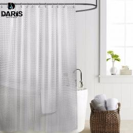 SDARISB z tworzywa sztucznego PEVA 3d wodoodporny prysznic kurtyny przezroczysta biała przezroczysta łazienka kurtyna luksusowa