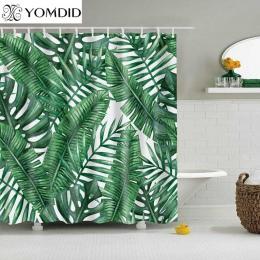 Proszę kliknąć na zielony tropikalne rośliny zasłona prysznicowa łazienka wodoodporna poliestrowa zasłona prysznicowa pozostawia