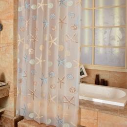 EHOMEBUY nowoczesne zasłona prysznicowa rozgwiazda partycji świeże nadmorski styl wodoodporna pleśni PEVA zasłona do łazienki z