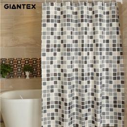 GIANTEX kratę łazienka zasłona prysznicowa wodoodporny prysznic zasłony do łazienki Cortina Ducha Rideau De Douche Douchegordijn