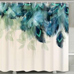 Żółw morski drukuj wodoodporny prysznic kurtyna tkanina poliestrowa zasłona wanny Octopus zmywalny wystrój domu do kąpieli zasło