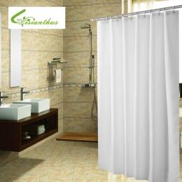 Tkanina poliestrowa zasłona prysznicowa z 12 sztuk haki wodoodporna z tworzywa sztucznego ekrany do kąpieli jednolity kolor ekol