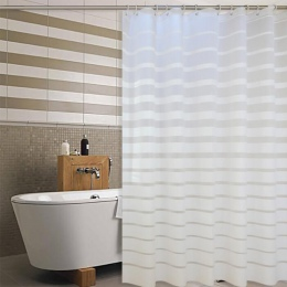 Z tworzywa sztucznego prysznic zasłony PEVA białe paski wanna do kąpieli kurtyny ekranu do domu hotelu łazienka wodoodporna form