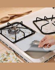4 sztuk/zestaw kuchenka gazowa kuchenka ochraniacze pokrywa/liner Clean Mat Pad kuchnia kuchenka gazowa i jest wyposażony w płyt