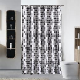 Mozaika styl łazienka zasłona prysznicowa gruba wodoodporna poliestrowa pleśni dowód wanna wanna kurtyna z 12 sztuk haki