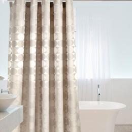 Elegancki koło stałe tkanina poliestrowa zasłona prysznicowa gruba wodoodporna zasłona wanny forma prosta łazienka zestaw partyc