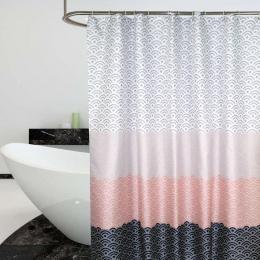 Nordic zasłona prysznicowa geometryczne kolor bloku wanna zasłony do łazienki wanna wanna pokrywa bardzo duże szerokości 12 sztu