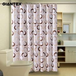 GIANTEX koło łazienka zasłona prysznicowa wodoodporny prysznic zasłony do łazienki Cortina Ducha Rideau De Douche Douchegordijn