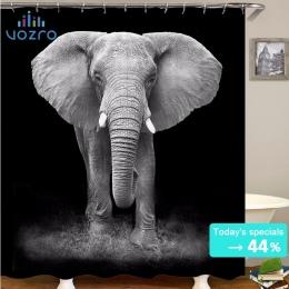 VOZRO słoń zasłona prysznicowa łazienka wanna Douchegordijn Rideau De Douche Pascoa Cortina Splatoon Youtube londyn Whal Chucky