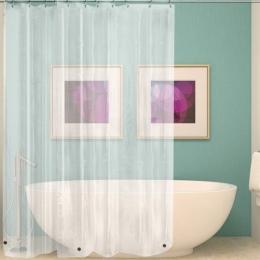 Wodoodporna przezroczysta zasłona prysznicowa biały wyczyść łazienka kurtyna luksusowa wanna zasłona z hakami z tworzywa sztuczn