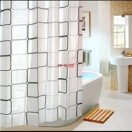 Fyjafon PEVA łazienka zasłona prysznicowa wodoodporny zasłona wanny wzór w kratę