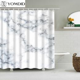 Wodoodporny prysznic materiał na zasłony poliestrowe marmurowe paski druku zasłony prysznicowe 5 kolor dostępne łazienka zasłony
