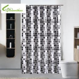Wodoodporny prysznic kurtyna z 12 hakami mozaika drukowane łazienka poliester zasłony wysokiej jakości wanna do kąpieli do dekor