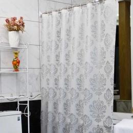 Tkanina PEVA prysznic zasłona z hakami wodoodporna z tworzywa sztucznego ekrany do kąpieli geometryczne kwiaty drukowanie ekolog