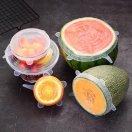 6 sztuk/zestaw pokrywa silikonowa świeże utrzymanie silikonowe pokrywy czapki dla garnek do żywności naczyń akcesoria kuchenne t