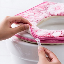 Ciepłe miękkie pokrycie wc pokrycie nakładka na muszlę górna pokrywa Pad łazienka cieplej deska klozetowa miska miękki zamek kwi
