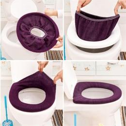 ISHOWTIENDA ciepłe miękkie pokrycie wc pokrycie nakładka na muszlę Pad łazienka Closestool Protector akcesoria łazienkowe zestaw