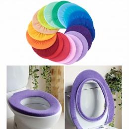 Sedes do łazienki pokrywa Closestool zmywalny miękki cieplej Mat Pad poduszki deska klozetowa pokrywa losowy kolor akcesoria łaz